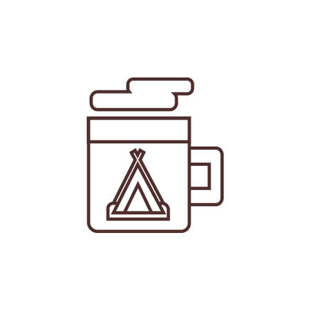 warm drink outline line icon vector illustration Çizim