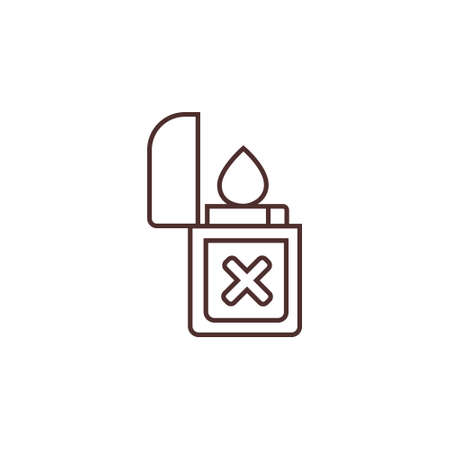 gas lighter outline line icon vector illustration