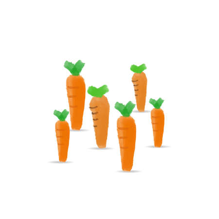 isolated cartoon carrot vector illustration. carrot clip art for greeting card, anniversary, web banners, social and print media