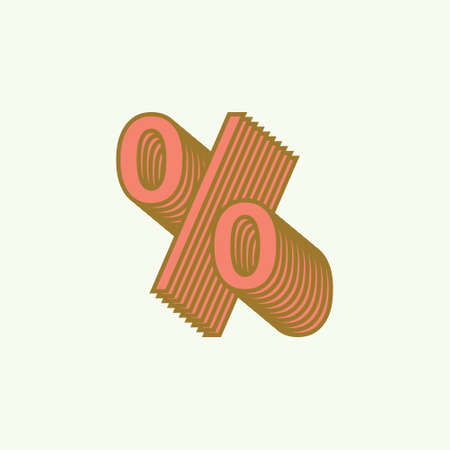 percentage icon with vintage style