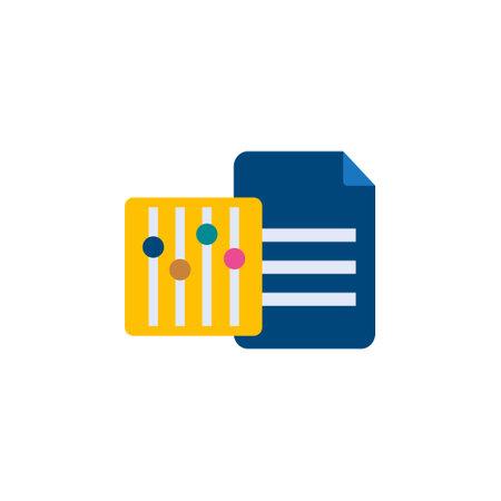 database data management setting option flat style icon for web service vector illustration