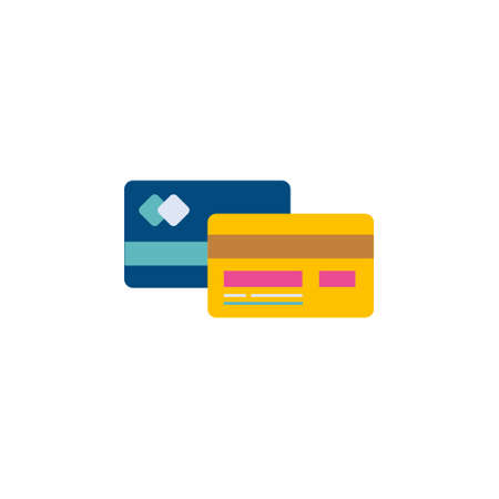 finance card flat style icon for payment transaction process vector illustration