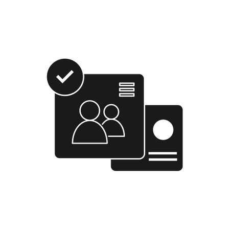 account solid style icon for user admin website or social media vector illustration