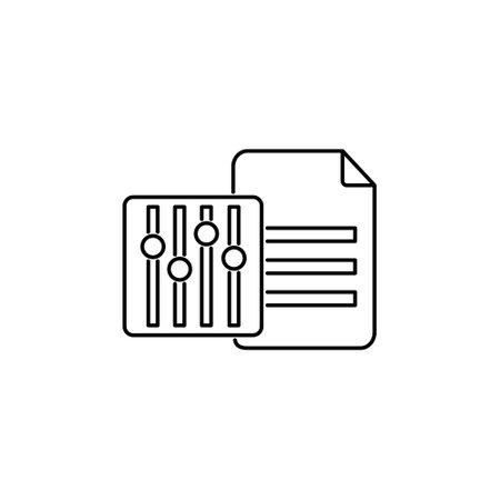 database data management setting option stoke outline icon for web service vector illustration