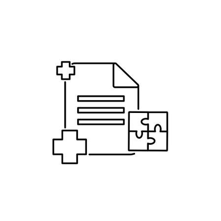 document office management stoke outline icon sign symbol vector illustration