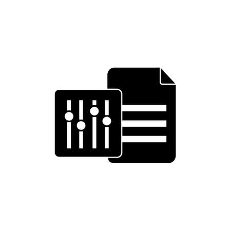database data management setting option solid style icon for web service vector illustration