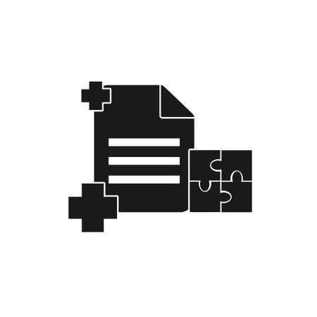 document office management solid style icon sign symbol vector illustration