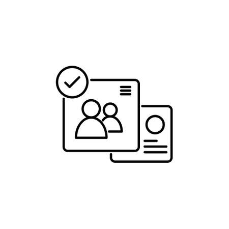 account stoke outline icon for user admin website or social media vector illustration