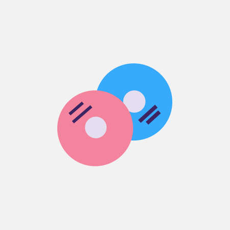 cd disc flat style icon vector illustration