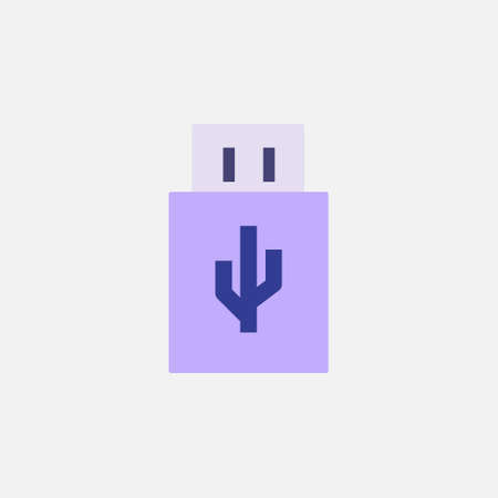 usb data storage flat style icon vector illustration 矢量图像