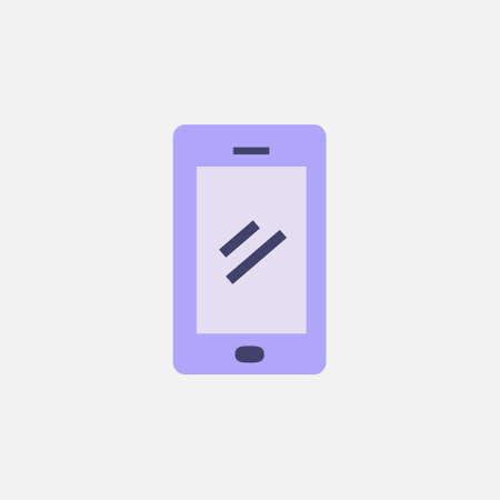 smartphone device icon with flat style flat illustration