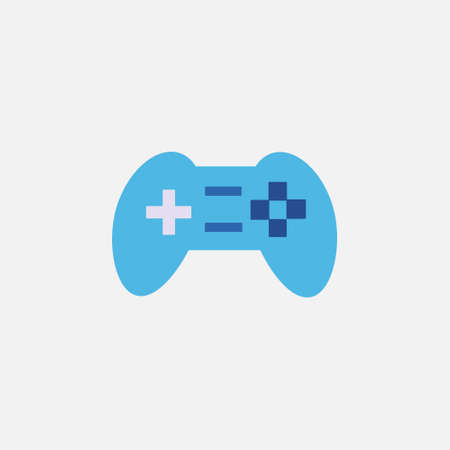 game console controller flat style icon vector illustration
