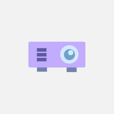 projector flat style icon for presentation business meeting vector illustration