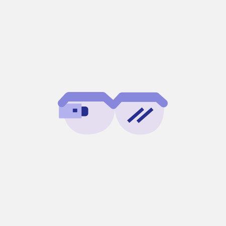 smart glasses flat style icon vector illustration