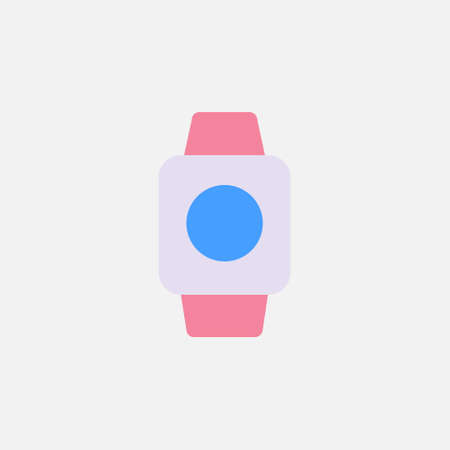 smartwatch gadget device flat style icon vector illustration