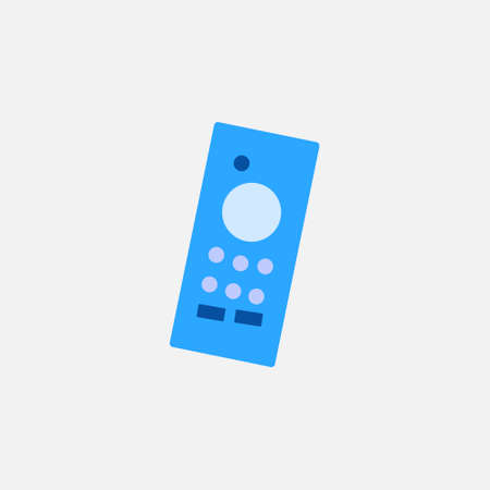 remote controller flat style icon for wireless smart tv device vector illustration 矢量图像