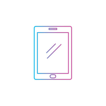 tablet pad device outline line style icon vector illustration