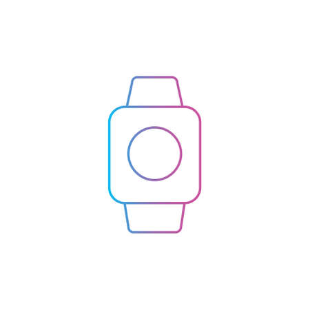 smartwatch gadget device outline line style icon vector illustration