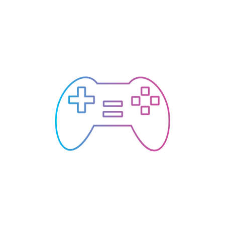 game console controller outline line style icon vector illustration 矢量图像
