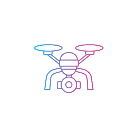 drone outline line style icon vector illustration 矢量图像
