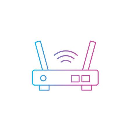 wifi router port device outline line style icon vector illustration 矢量图像