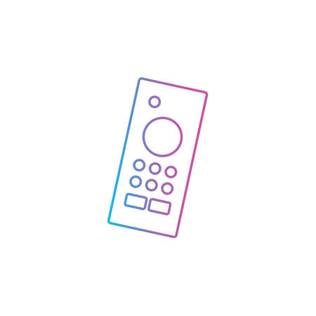 remote controller outline line style icon for wireless smart tv device vector illustration