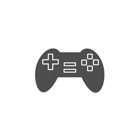 game console controller black solid style icon vector illustration