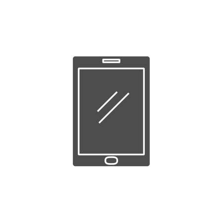 tablet pad device black solid style icon vector illustration