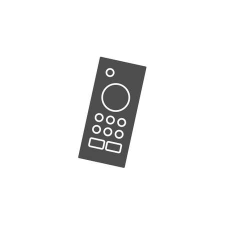 remote controller black solid icon for wireless smart tv device vector illustration