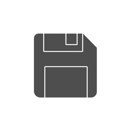 floppy disk memory for save button black solid icon. storage diskette vector illustration