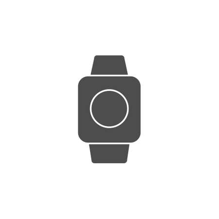 smartwatch gadget device black solid style icon vector illustration