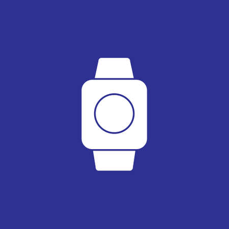 smartwatch gadget device solid style icon vector illustration