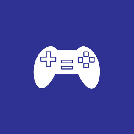 game console controller solid style icon vector illustration