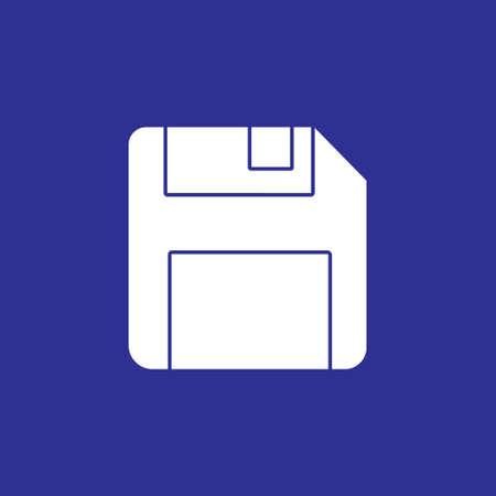 floppy disk memory for save button solid icon. storage diskette vector illustration