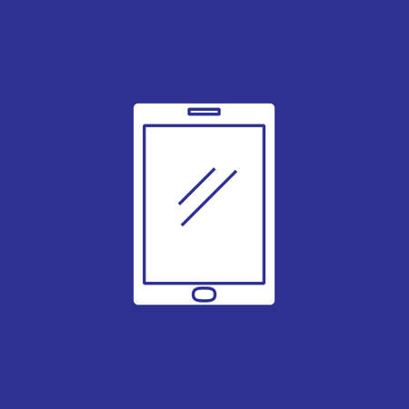 tablet pad device solid style icon vector illustration