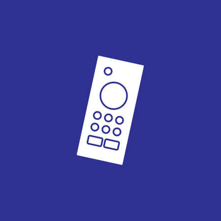 remote controller solid icon for wireless smart tv device vector illustration