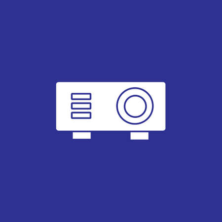 projector solid style icon for presentation business meeting vector illustration