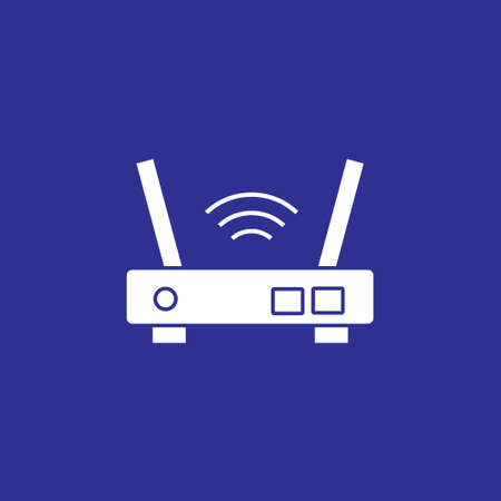 wifi router port device solid style icon vector illustration