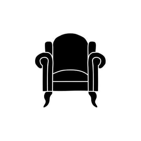 sofa silhouette doodle sketch style icon. isolated on white background simple ink hand drawn Vector illustration