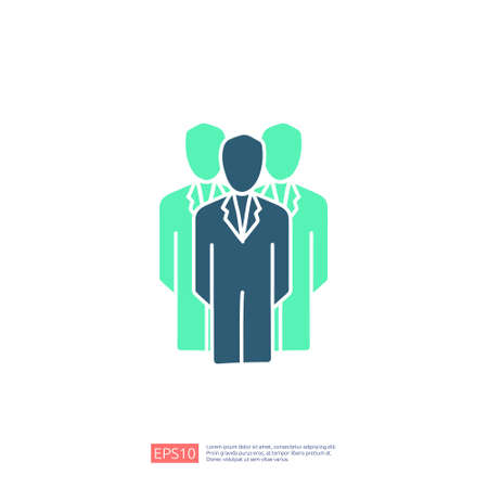 Business corporate team doodle icon. Team leadership or community concept. people working together. Social network group logo symbol vector illustration