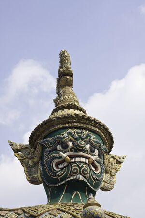 Giant Sculpture, Grand Palace and Emerald Buddha Temple, Bangkok, Thailand photo