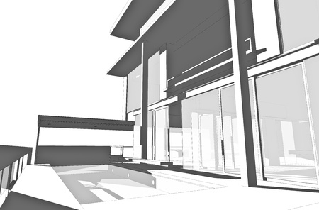 Architectural drawing, generated by computer photo