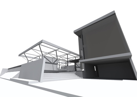 housing style: Architectural drawing, housing project by rendering style, generated by computer