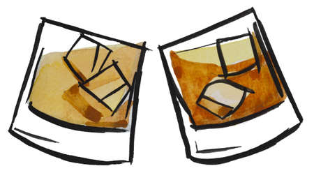 whisky time by watercolors photo