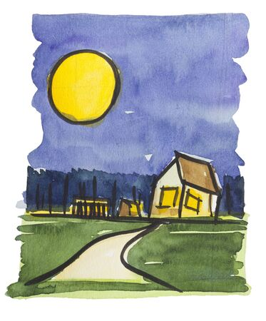 the way home by watercolors Stock Photo - 9440791