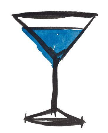 copa de martini: Copa de Martini por acuarelas