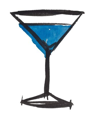 martini glass: Martini glass by watercolors