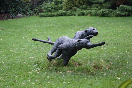 jubatus: Statue of Cheetah - Acinonyx jubatus Stock Photo