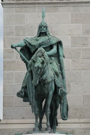 founding fathers: Arpad - Leader of the Horsemen - Founding Fathers of Budapest - Hosok Tere (Heroes Square)