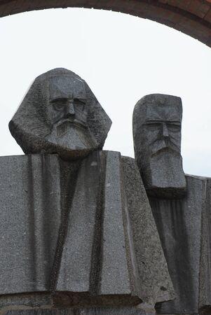 Marx - Engels - Communist Monument - Memento Park - Budapest Stock Photo